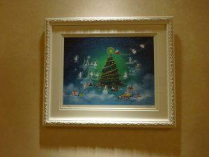 """待合室の絵を """"クリスマス特集"""" にいたしました。"""